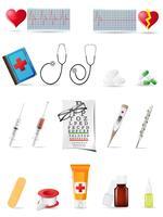 conjunto médico de ícone