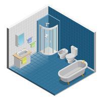 Design de interiores de casa de banho vetor