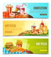 Conjunto de Banners horizontais Fast Food