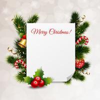Fundo festivo de feliz Natal