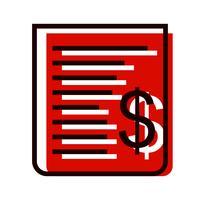 Design de ícone de recibo vetor