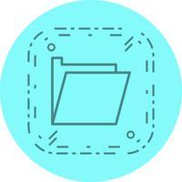 Design de ícone de pasta vetor