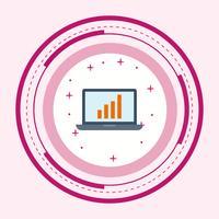 Design de ícone de estatísticas vetor