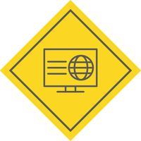 Design de ícone de página da Web