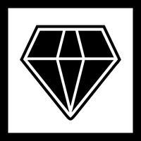 Desenho de ícone de diamante vetor