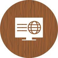 Design de ícone de página da Web vetor
