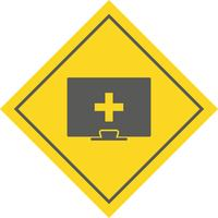 Design de ícone de ajuda médica on-line