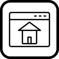 design de ícone de homepage vetor
