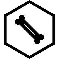 Desenho de ícone de osso vetor