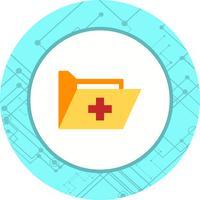 Design de ícone de pasta médica
