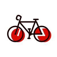 Design de ícone de bicicleta