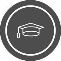 projeto de ícone de boné de formatura vetor