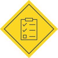 Projeto de ícone de lista de verificação vetor