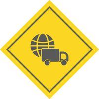 Entrega Global Icon Design vetor