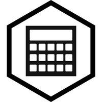 Design de ícone de cálculo vetor