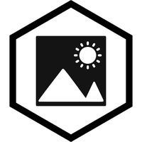 Desenho do ícone de imagem vetor