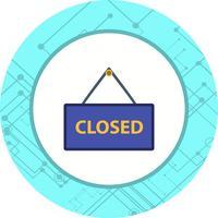 Design de ícone de sinal fechado vetor