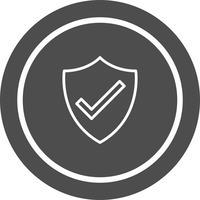 Design de ícone de escudo vetor