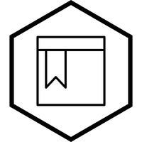 design de ícone de página marcada vetor