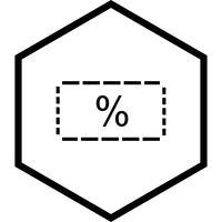 Desconto ícone do design vetor