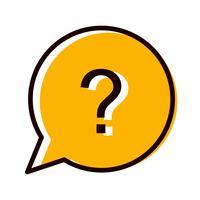 Design de ícone de pergunta vetor