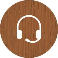 Design de ícone de fones de ouvido vetor
