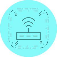 Projeto do ícone do roteador vetor