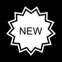 Novo design de ícone vetor