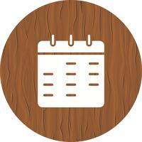 Ícone do calendário vetor