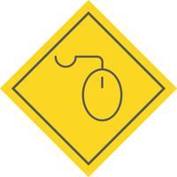 Desenho do ícone do rato vetor