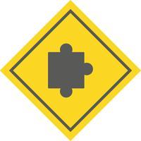projeto de ícone de peça de quebra-cabeça vetor