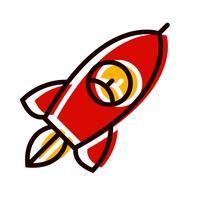 Design de ícone de foguete vetor