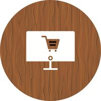 Design de ícone de compras on-line vetor