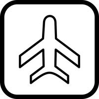 Design de ícone de avião vetor