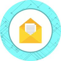 Projeto do ícone da caixa de entrada vetor