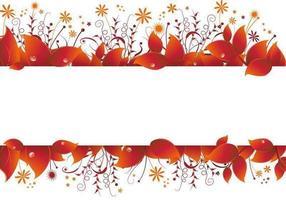 Vector de bandeira de folhas de outono