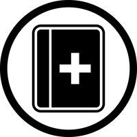 Design de ícone de livro médico vetor