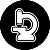 Design de ícone de microscópio