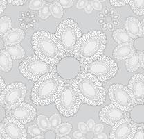 Resumo oriental floral padrão sem emenda. vetor