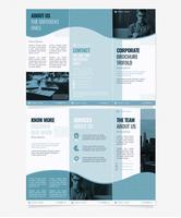 Modelo de Brochura - corporativo com três dobras vetor