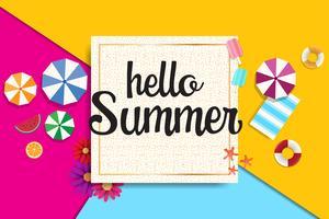 Banner de venda de verão e plano de fundo