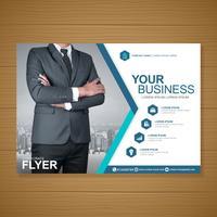 Negócios capa a4 modelo e ícone plana para um design de relatório e brochura, panfleto, banner, decoração de folhetos para impressão e apresentação de ilustração vetorial