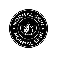 Ícone de pele normal. vetor
