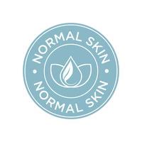 Ícone de pele normal.