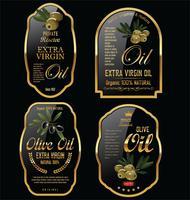Coleção de rótulos retrô de azeite vetor