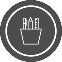 Papelaria ícone do design vetor