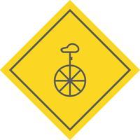 Design de ícone de monociclo vetor