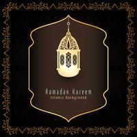 Fundo de saudação islâmica abstrata Ramadan Kareem