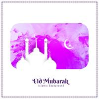 Ilustração abstrata do fundo da aguarela de Eid Mubarak