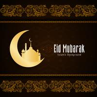 Projeto abstrato do fundo religioso de Eid Mubarak